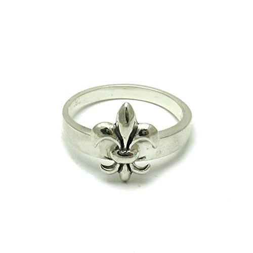 Anillo plata de ley sólido 925 flor de lis R001527 Empress