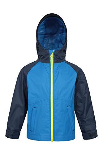 Mountain Warehouse Manteau Torrent 2 pour bébé - Imperméable, Coutures étanches, Doublure en Maille, Poches Ajustables - Idéal pour Un Usage Quotidien ou pour Voyager Indigo 18-24 Mois