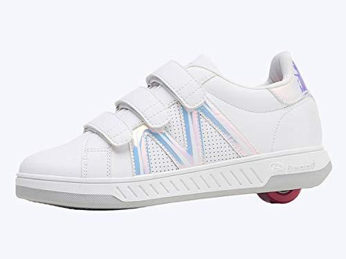 Beppi Breezy Rollers 2176222 - Zapatos infantiles con ruedas (2 en 1), color blanco
