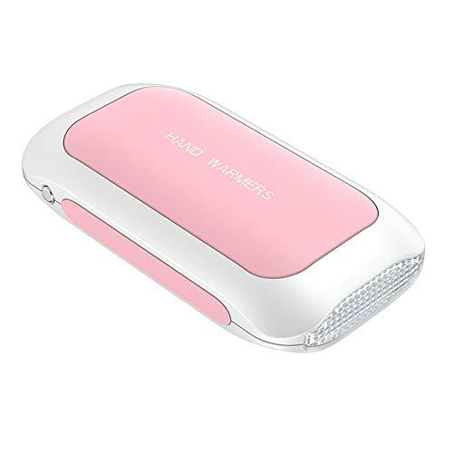 Puomue Aquecedor de mão recarregável, aquecedor de mão elétrico USB com bateria de 5200 mAh, carregador tipo C, aquecedor de mão reutilizável presente para idosos Raynaud terapia de calor ao ar livre