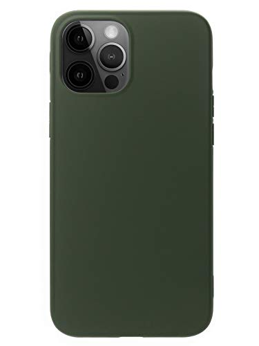 MUNDULEA Compatible with iPhone 12 Pro Max Case Green Slim Surface Layer Smooth Matte Soft TPU Cover Compatible for iPhone 12 Pro Max (Green)