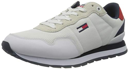 Tommy Jeans Lifestyle Mix Runner, Zapatillas Hombre, White, 44 EU
