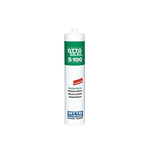 OttoSeal S100, das Premium- Sanitär- Silicon, 300ml Farbe: C71 FUGENGRAU
