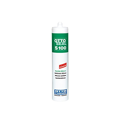 OttoSeal S100, das Premium- Sanitär- Silicon, 300ml Farbe: C501 HELLGRAU 21