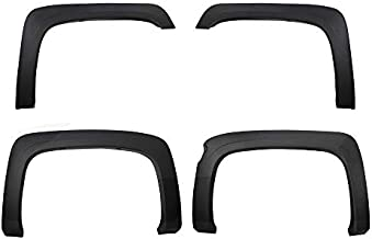 Premium Fender Flares for 2007-2013 Chevy Silverado 1500 5.8' Short Bed (NOT for Sierra) | Excl. 2007 Classic Models | Find-Textured Matte Black Paintable Factory Style 4pc