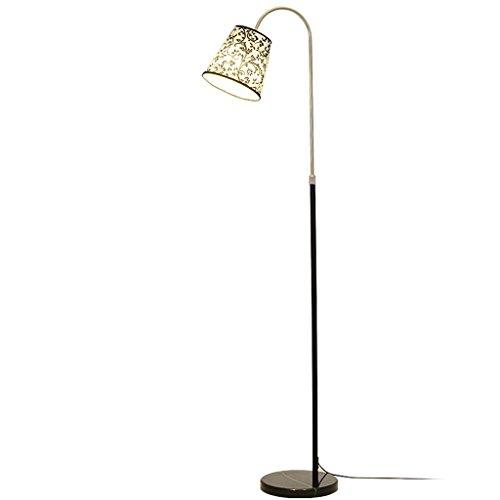 Ywyun Lampe de plancher verticale nordique télescopique, simple lampe de bureau en tissu de décoration, lampe de chevet de salon moderne (Color : A)