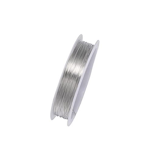 YJDLC Alambre de Cuentas de Cobre 1 Rollo Resistente de aleación de Oro aleación de Alambre de Alambre de Alambre de Metal para Alambre de Cuerda de Bricolaje Haciendo Joyas Plástico/Flexible