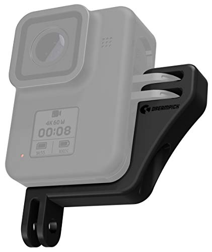 DREAMPICK Supporto Verticale per GoPro Hero 9 8 7 6 5 4, DJI Osmo Action Vertical Frame Camera Vertical Mount, Case per Attacco Gopro Verticale, VRT Vertical Adapter
