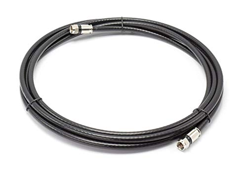Maximm Coaxial Cable Straight to Angled RG6 F-Pin Triple Shielded UL CL3 in-Wall Rated RG6 Digital Audio//Video Includes 2-Way Splitter with Coupler Connectors and Cable Clips White 100 Feet