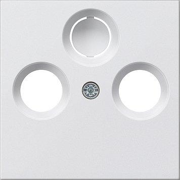 GIRA Serie Standard 55 - reinweiß glänzend (086903) Abdeckung TV 2/3-Loch