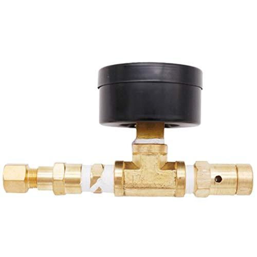 Basage verstellbares Druckentlastungsventil mit Messgerät, für Heimgebrau, Bierkugel-Arretierung, verstellbares Druckventil mit Messgerät, 0–30 Psi