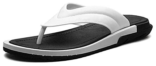 AMDHZ Zapatillas de baño Sandalias de Playa de Verano Interior y al Aire Libre, Soporte de Arco, Chanclas para Hombres Zapatos Zapatillas de Verano (Color : Black, Size : 42)