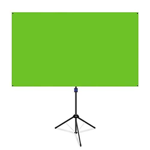 2 in 1 Tragbares Green Screen Hintergrund Rückwand für Live Streaming und Videos, Stativ und Wandnutzung möglich