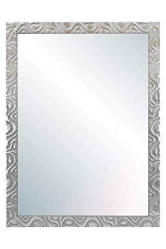 Chely Intermarket, Espejo de Pared Cuerpo Entero 60X80 cm(69x89cm)/Plata-Plateada/Mod-144, Ideal para peluquerías, salón, Comedor, Dormitorio y oficinas. Fabricado en España. Material Madera.