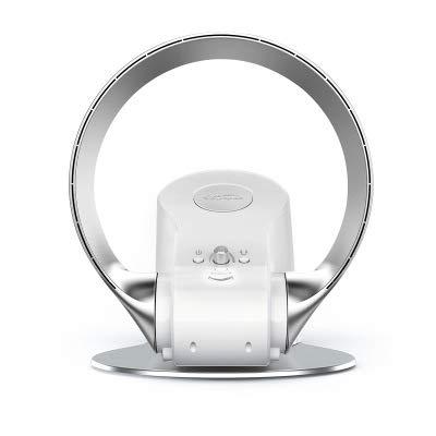 Blattloser Ventilator Turmventilator mit Fernbedienung Lüfter Leise Luftzirkulator mit Timer-Sleep Funktion, zur Wandmontage geeignet, stufenlos regelbar