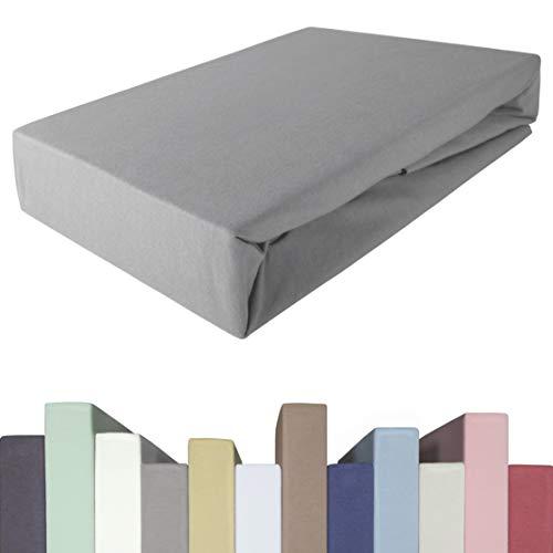EddaLux Spannbettlaken für BOXSPRINGBETT & bis zu 40 cm hohe Matratzen | Premium-Qualität | Baumwolle m. 5% Elasthan | schwere 190 g/m² | 180 x 200 | 200 x 200 | 200 x 220 cm | Spannbetttuch