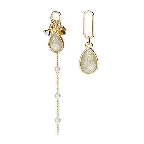 金桥Perla de circonita de cristal de nicho largo simple de aguja de plata 925