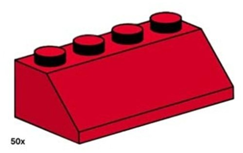 Lego Service 3498 - Dachsteine, rot,schräg, 50 Stück