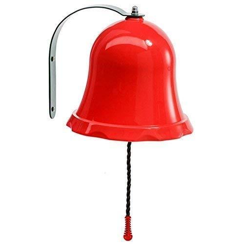 Schiffsglocke Glocke für Spielturm, Baumhaus, Kinderzimmer, Essensklingel oder Klingel für Spielhaus - Farbe rot