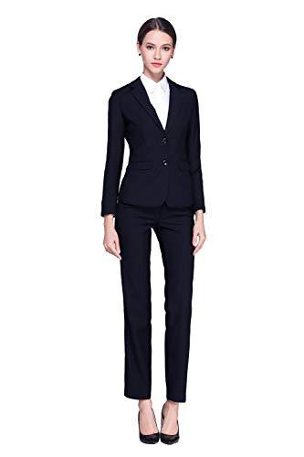 Rojeam Mujer Elegante Clásica Informal Conjunto de Traje Traje de Negocios Trajes de Vestir Formal Slim Fit Traje de Pantalón Traje de Falda Corta Chaqueta Blazer Camisa