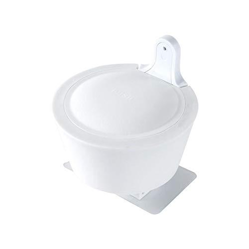 favourall zeepdispenser aan de muur bevestigde handmatige zeepdispenser wit kunststof, zonder boren, voor douchegel shampoo zeep 350ml
