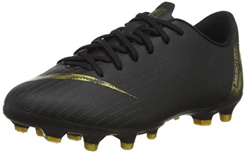Nike Vapor 12 Academy Gs MG Fußballschuhe, Schwarz (Black/MTLC Vivid Gold 077), 38 EU