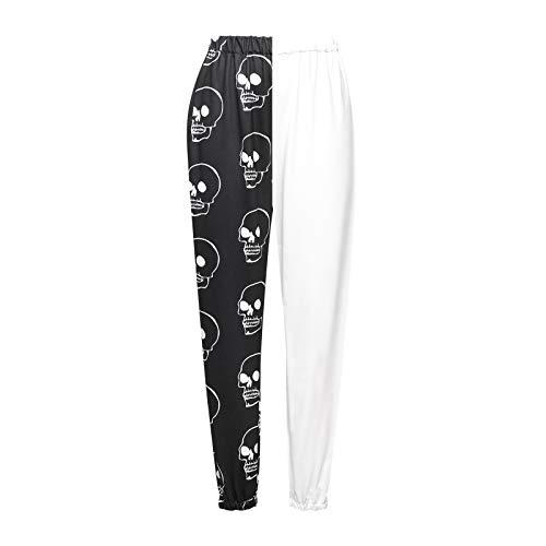 Nokiwiqis Harem Hippie Pantalones Boho Harem Yoga Pantalones para Mujer con Bolsillos