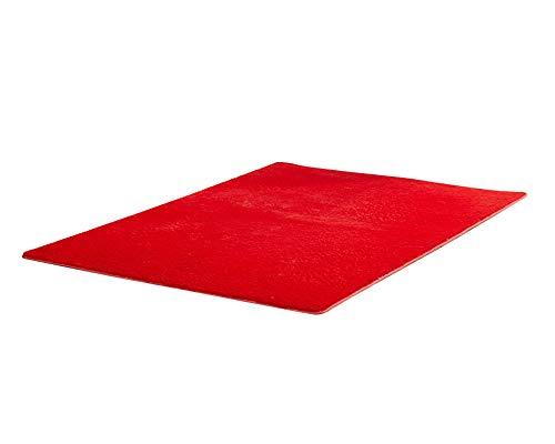Tappeto Shaggy A Pelo Alto Tappeti A Pelo Lungo Salotto Miglior Prezzo In Diversi Colori Rosso 100 * 200CM