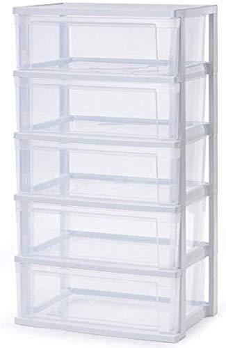 Iris Ohyama Wide Chest NSW-545 Breiter Schubladenschrank/Kommode mit 5 Schubladen von 25 L, Polypropylene, weiß