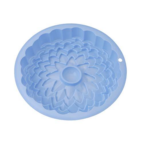 Idiytip 1 Pièce Belle Forme de Fleur Moule à Gâteau en Silicone Ustensiles de Cuisson Pain Moules,Bleu