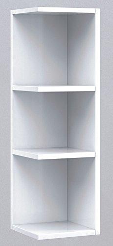 PEGANE Étagère d'angle Coloris Blanc Brillant, 65 x 20 x 21 cm