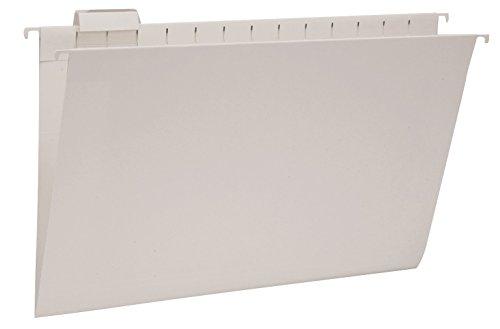 Smead Hanging File Folder with Tab, 1/5-Cut Adjustable Tab, Legal Size, Gray, 25 per Box (64163)