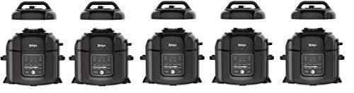 Ninja OP401 Foodi 8-Quart Pressure, Steamer, Air Fryer All-in- All-in-One Multi-Cooker, Black/Gray (Fivе Расk)