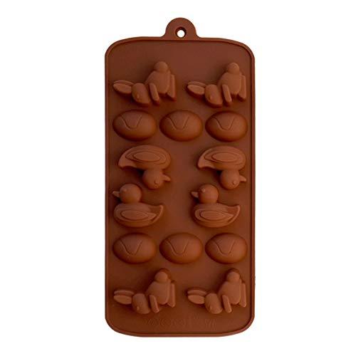 MIBANG - Molde de Silicona para Tartas y Galletas, diseño de Conejo de Pato, Color marrón
