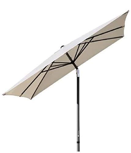 Pure Home & Garden Kurbelschirm 250x250 Natur, mit UV-Schutz 40 Plus, Knicker und abnehmbarem Bezug