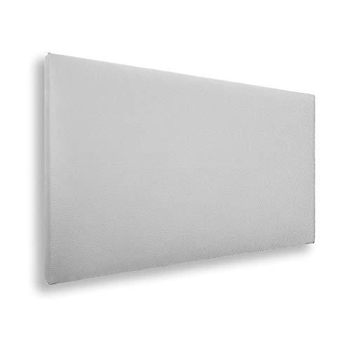 SILCAR HOME - Cabecero de Cama Tapizado en Polipiel Liso, Modelo Jep (Blanco, 90 cm) | Cabecero Acolchado | Cabezal Tapizado | TNT Transpirable | Cabecero Original | Transporte Incluido