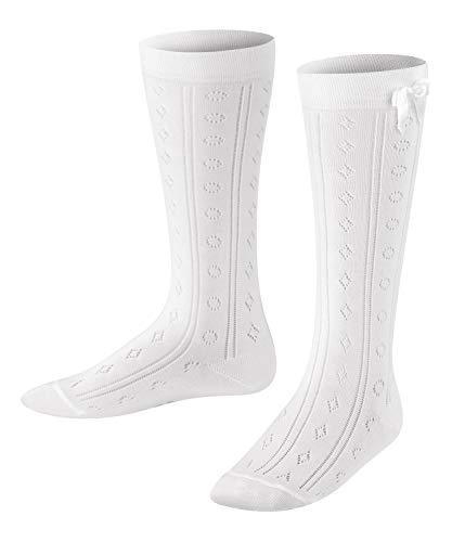 FALKE Kinder Kniestrümpfe Ajour - Baumwollmischung, 1 Paar, Weiß (White 2000), Größe: 27-30