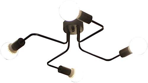 Living Room lamp LED-lamp vakantiehuis kamer Sfeer Simple creatieve persoonlijkheid Modern 4 geïntegreerde lamp Plafondlamp Industrial Black