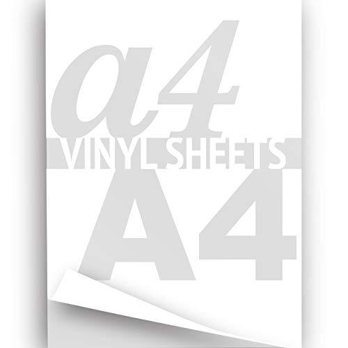 Imprimable en Vinyle Blanc Feuille A4 297 x 210 mm Papier 2 X Sticker Autocollant Brillant