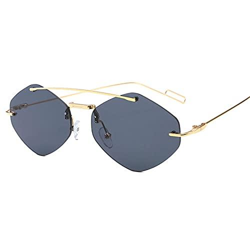 ShSnnwrl Único Gafas de Sol Sunglasses Nuevas Gafas De Sol Cuadradas Rojas Y Negras A La Moda para Mujer, Gafas De Sol De Aleació