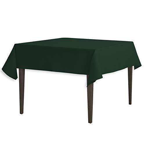 LinenTablecloth 137,16 Mantel cm Cuadrados poliéster Verde Oscuro