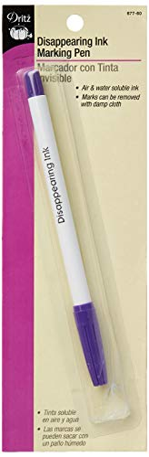 Dritz 677-60 Disappearing Ink Marking Pen, Purple