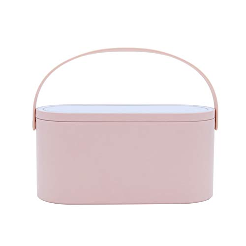 Travel Makeup Case Portable Cosmetic Organizer Storage Box With LED Lighted Mirror Cover Cosmetic Travel Carrying Cases