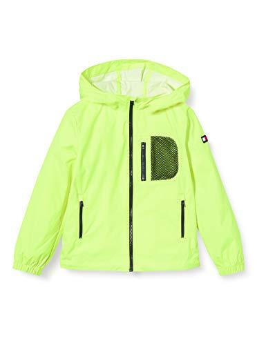 Tommy Hilfiger Jungen Combi Mesh Hooded Jacket Jacke, Gelb (Safety Yellow 13-0630 Zaa), 6-7 Jahre (Herstellergröße: 6)