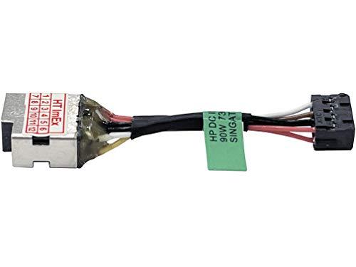 HT ImEx - Conector de alimentación hembra DC Jack compatible con HP Pavilion 15-p137ng, 15-p161ng, 15-p173ng, 15-p138ng, 15-p155ng, 15-p135ng, 15-p151ng, 15-p163ng