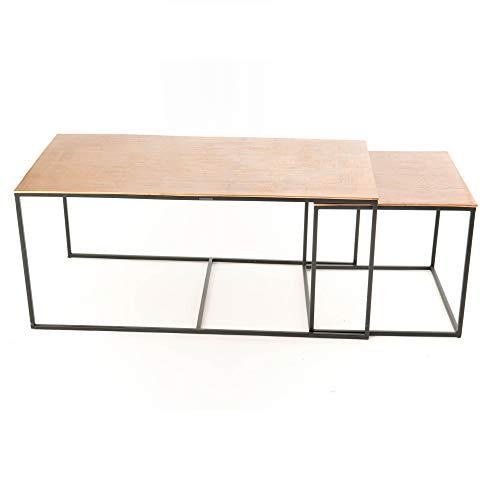 Amadeus - Lot de 3 Tables Basses cuivrées