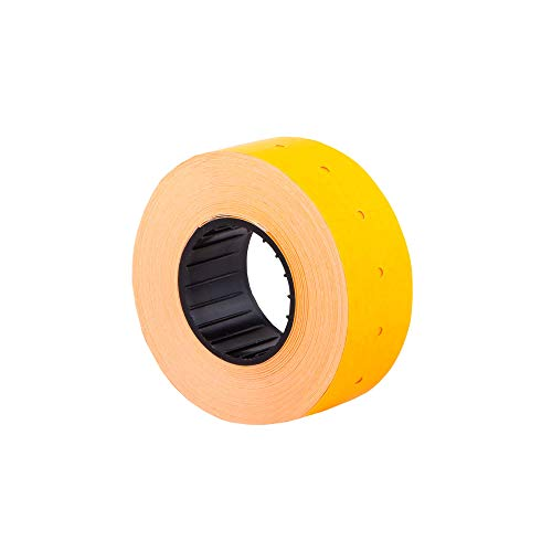 (10 rollos) Naranja 21 x 12 mm Etiqueta adhesiva de papel de