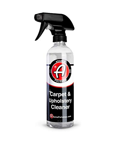 Adam's Carpet & Upholstery Cleaner (16oz) - Powerful Car Carpet Cleaner For Auto Detailing | Cloth, Upholstery & Fabric Car Interior Cleaner Solution | Stain Remover Shampoo For Car Seat, Floor Mats & More