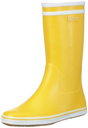 Aigle Damen Malouine BT Gummistiefel, Gelb (jaune / blanc 3), 41 EU (7.5 UK)