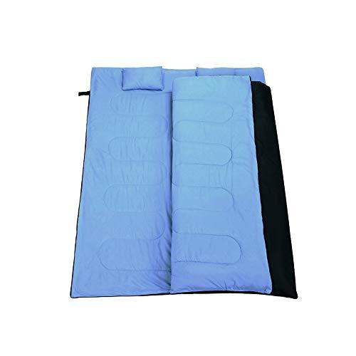 ZHANG HONG-carpet Z-H-C Sac Double de Couchage Chaud, imperméable Camping Léger Convient for Adultes Filles Garçons randonnée pédestre randonnée pédestre (Color : Blue)